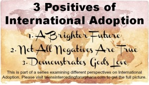 3 Positives of International Adoption