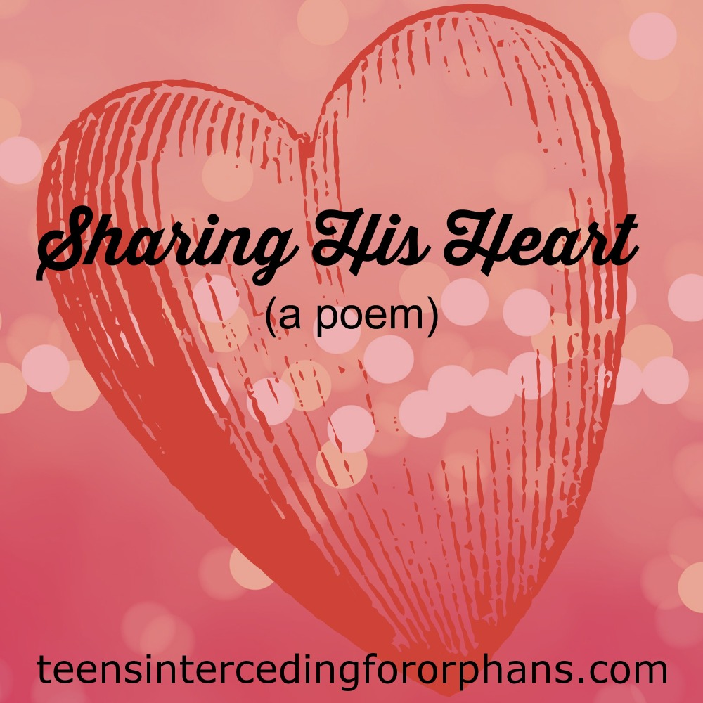 Sharing His Heart (a poem)