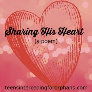 Sharing His Heart