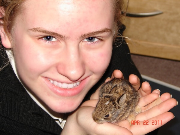 Agua, our surviving bunny from 2011