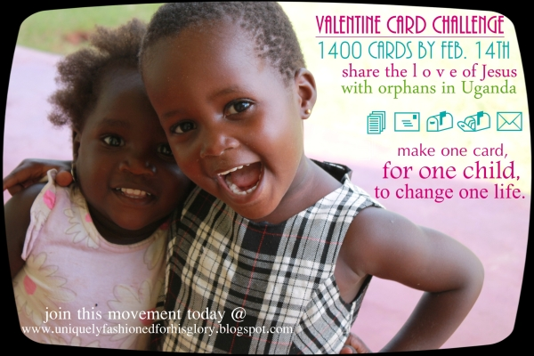 make one cards, for one child, change one life