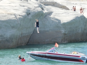 Cliff jumping. (Leah, are you crazy?!)